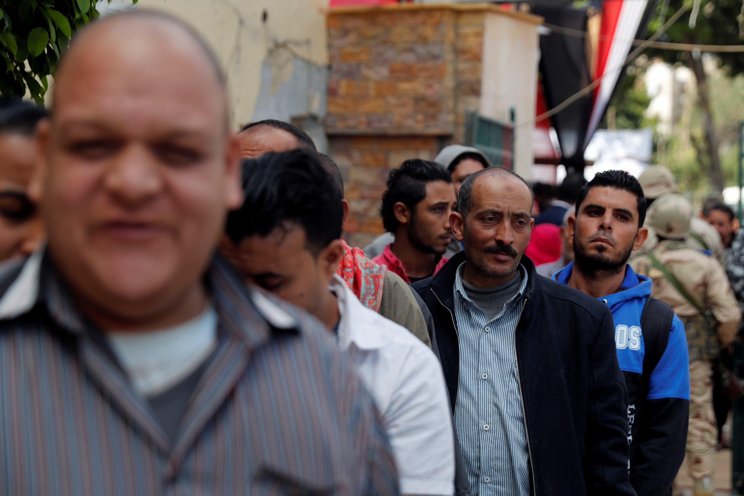 ناخبون خارج لجنة انتخابية بالقاهرة