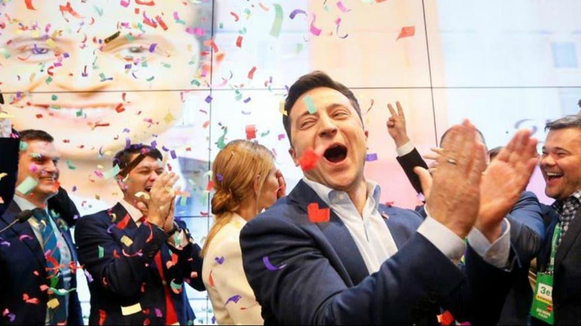 کمیدین اوکراینی برنده انتخابات ریاست جمهوری شد