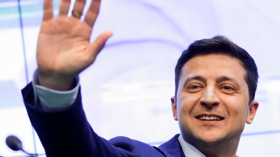 TV star Volodymyr Zelenskiy is projected to win the country's presidential runoff vote in a landslide. (File photo: AP)