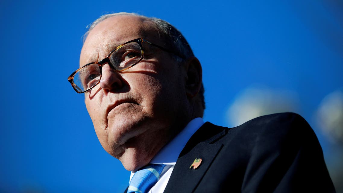 FILE PHOTO: White House economic adviser Larry Kudlow listens to a question from the media outside the White House in Washington, U.S., December 3, 2018. REUTERS/Jim Young - RC1AB0598730/File Photo