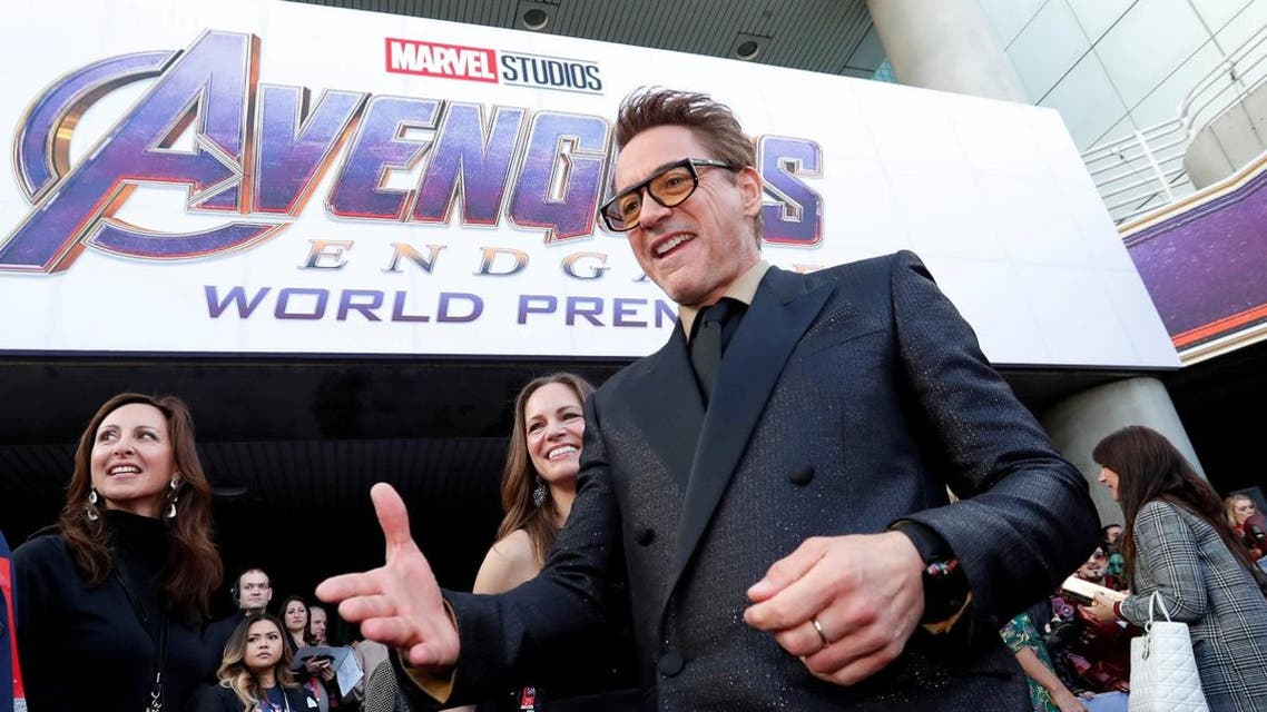 """Cast member Robert Downey Jr., arrives on the red carpet at the world premiere of the film """"The Avengers: Endgame"""" in Los Angeles, California, April 22, 2019. (Reuters)"""