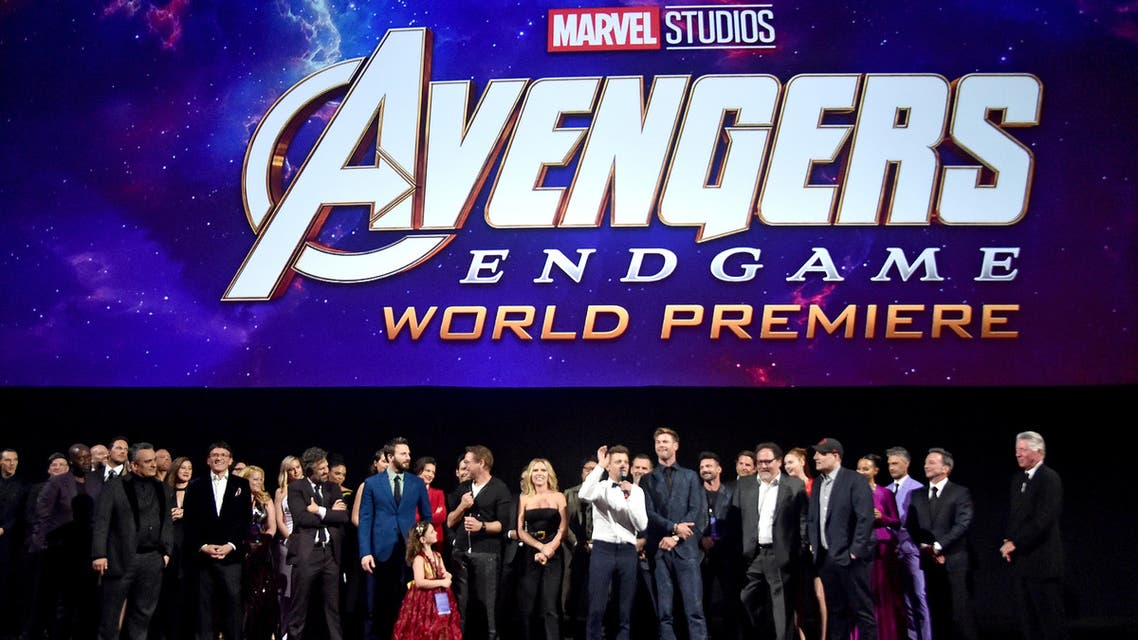LOS ANGELES, CA - APRIL 22: Director Joe Russo, Director Anthony Russo, Mark Ruffalo, Chris Evans, Robert Downey Jr., Scarlett Johansson, Jeremy Renner, Chris Hemsworth, Executive producer Jon Favreau, President of Marvel Studios/Producer Kevin Feige, and Executive producer Louis D'Esposito speak onstage during the Los Angeles World Premiere of Marvel Studios' Avengers: Endgame at the Los Angeles Convention Center on April 23, 2019 in Los Angeles, California. Alberto E. Rodriguez/Getty Images for Disney/AFP