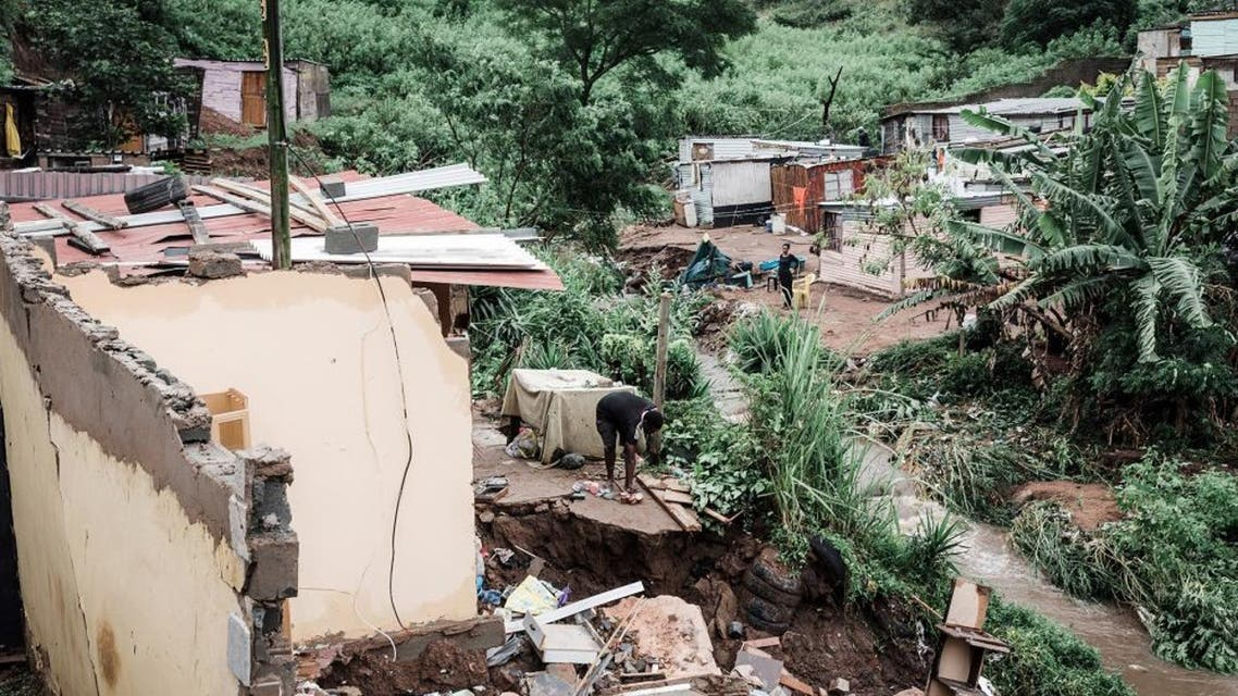 Hundreds have been displaced, mainly in the port city of Durban in KwaZulu-Natal province. (AFP)