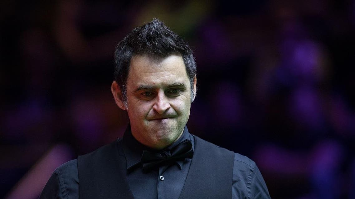 Britain's Ronnie O'Sullivan reacts after a shot against Australia's Neil Robertson during the final of the Hong Kong Masters snooker tournament on July 23, 2017. (AFP)