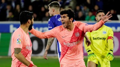 برشلونة يهزم ألافيس ويقترب من حسم اللقب