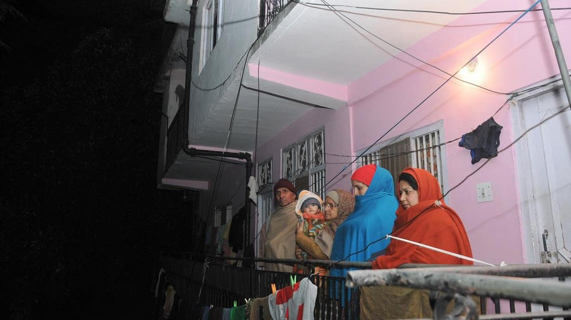 Residents come out from their houses after the earthquake in the northern hill town of Shimla. (File photo: AFP)