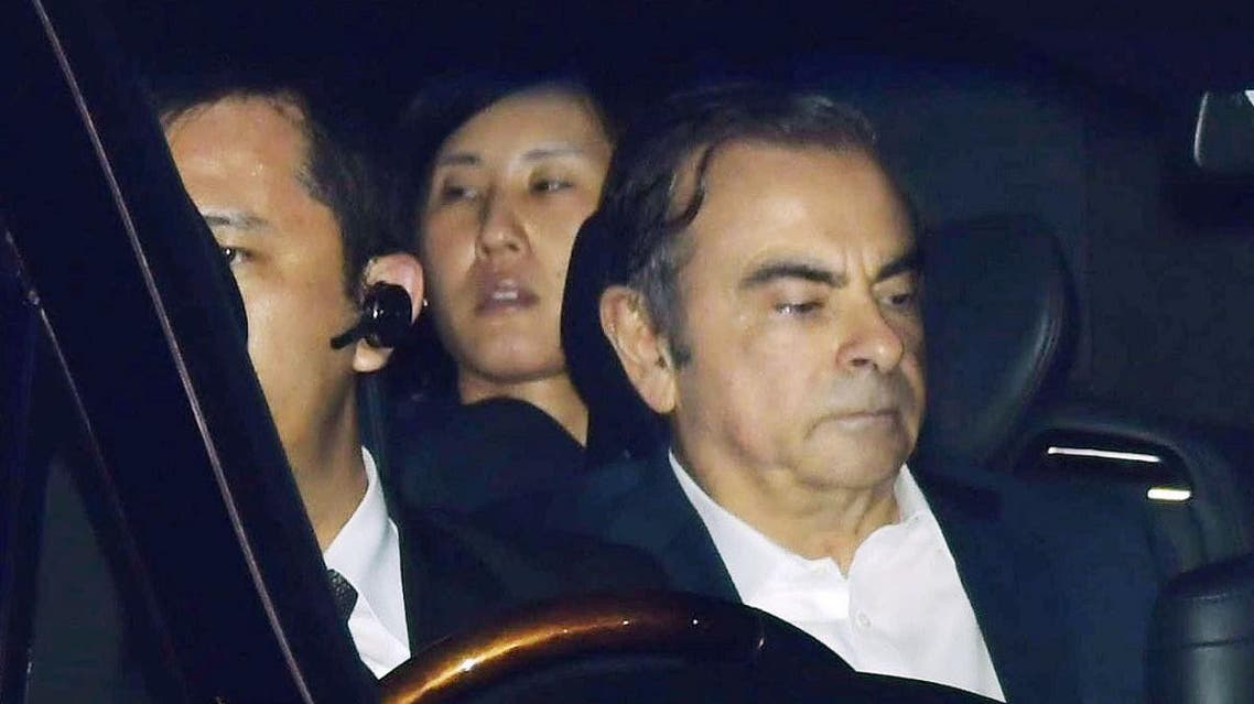 Former Nissan Motor Chairman Carlos Ghosn leaves the Tokyo Detention House in Tokyo, Japan in this photo taken by Kyodo April 25, 2019. (Reuters)