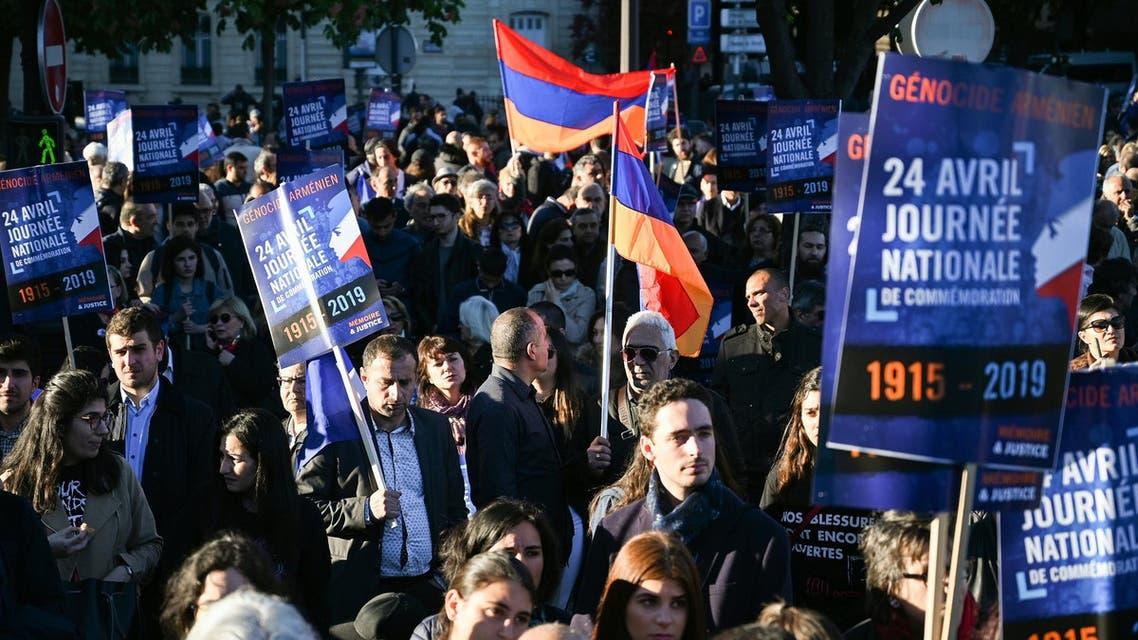 Armenian genocide remembrance in Paris - AFP