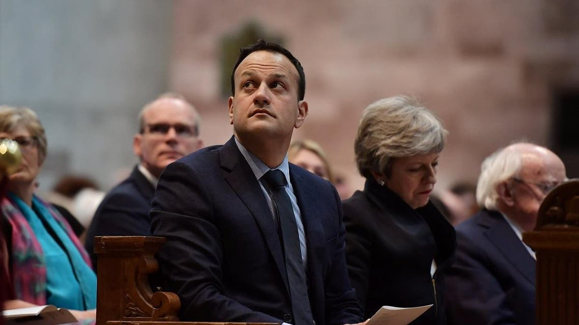 Ireland's Prime Minister (Taoiseach) Leo Varadkar looks up during the funeral service for murdered journalist Lyra McKee at St Anne's Cathedral in Belfast, Northern Ireland. (Reuters)