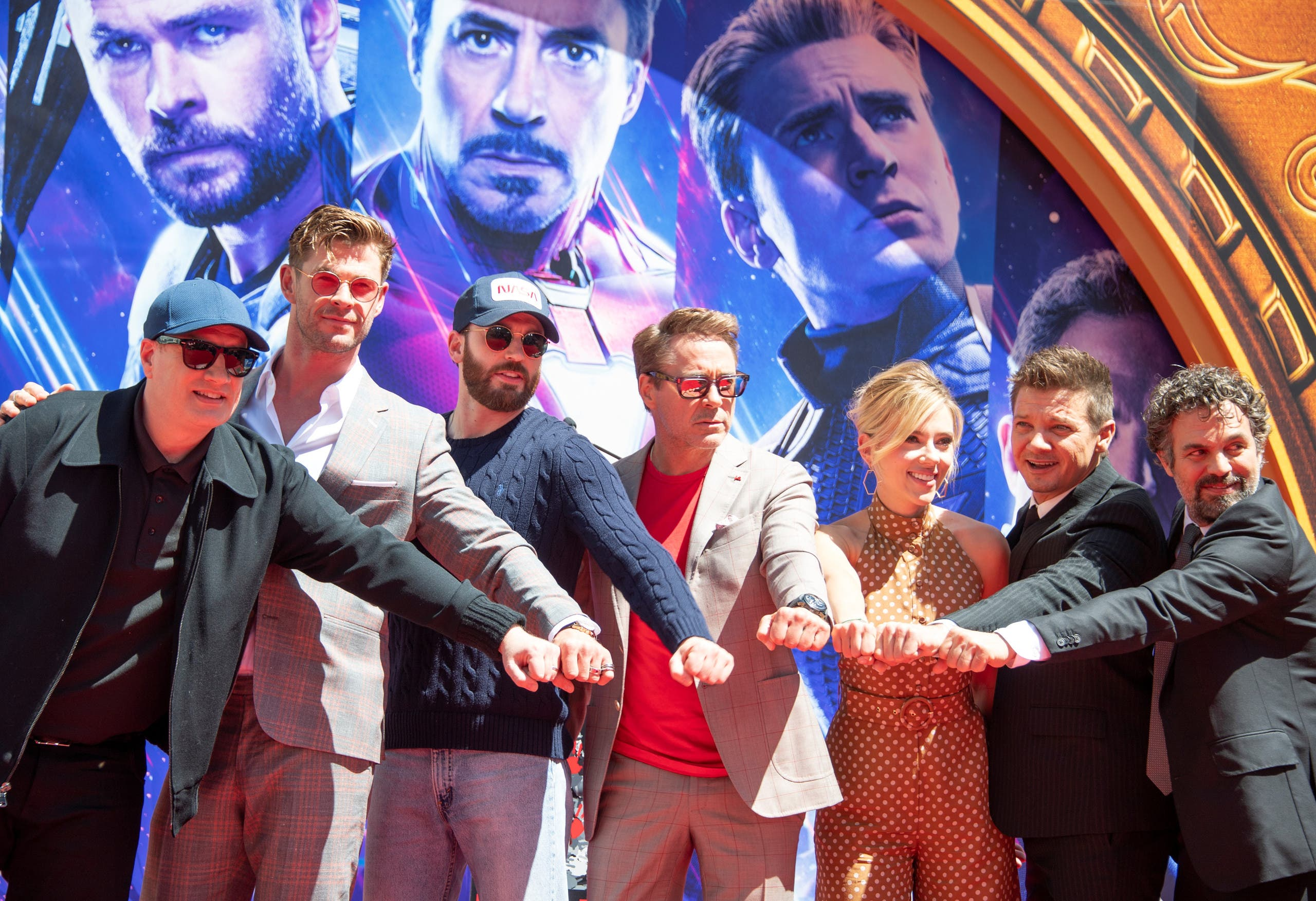 Avengers: Endgame cast (AFP)
