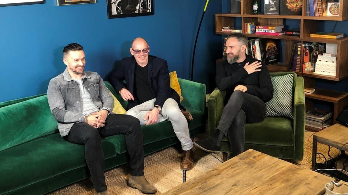 Members of The Cranberries, bassist Mike Hogan, drummer Fergal Lawler and guitarist Noel Hogan speak to Reuters during an interview in London. (Reuters)