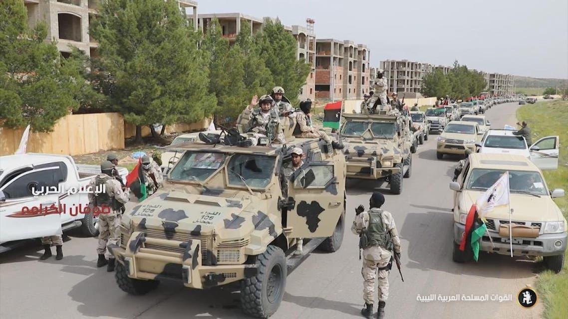 THUMBNAIL_ الجيش الوطني الليبي يتقدم على محاور القتال
