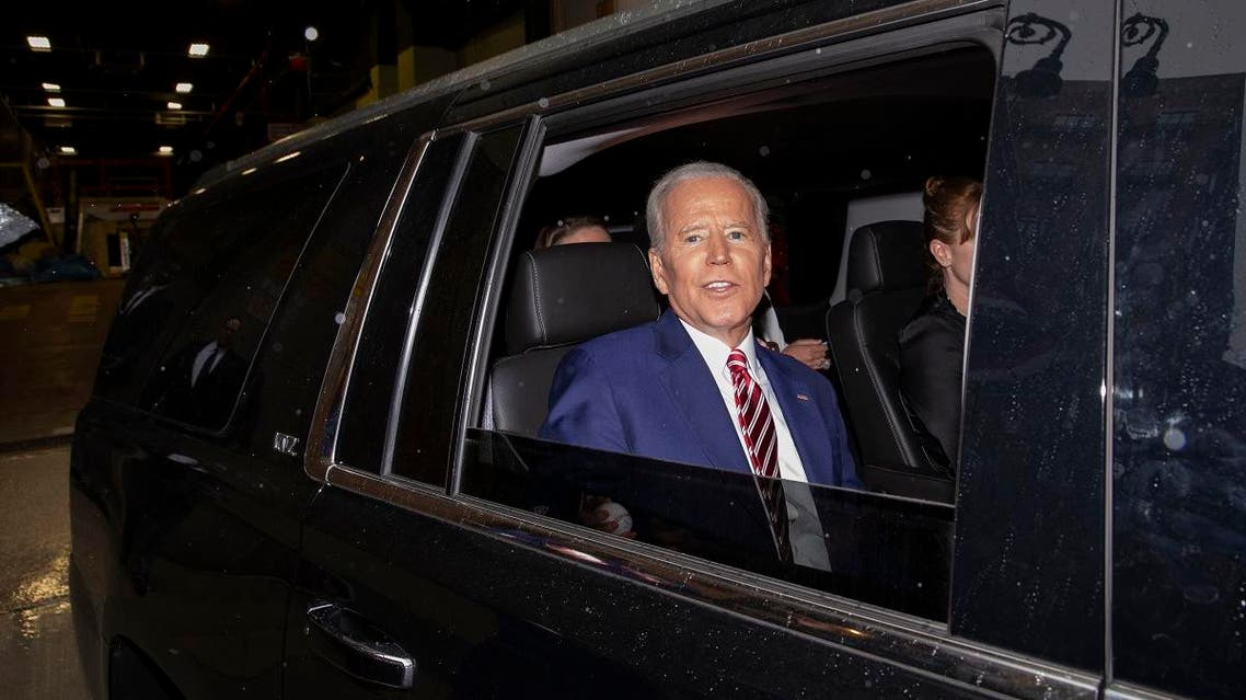 """Former Vice President and Democratic presidential candidate Joe Biden is shown after appearing on ABC's """"The View"""", Friday, April 26, 2019 in New York. (AP)"""