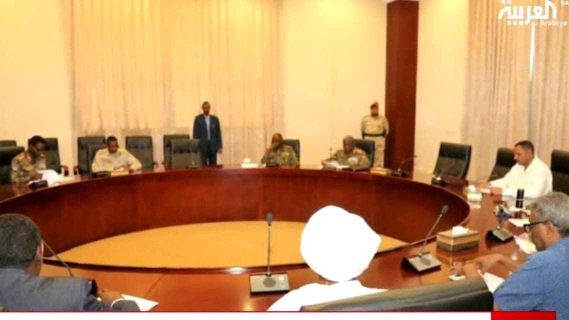 Screengrab of the meeting between Sudan Transitional Military Council and protest leaders on Saturday April 27, 2019. (Screengrab)