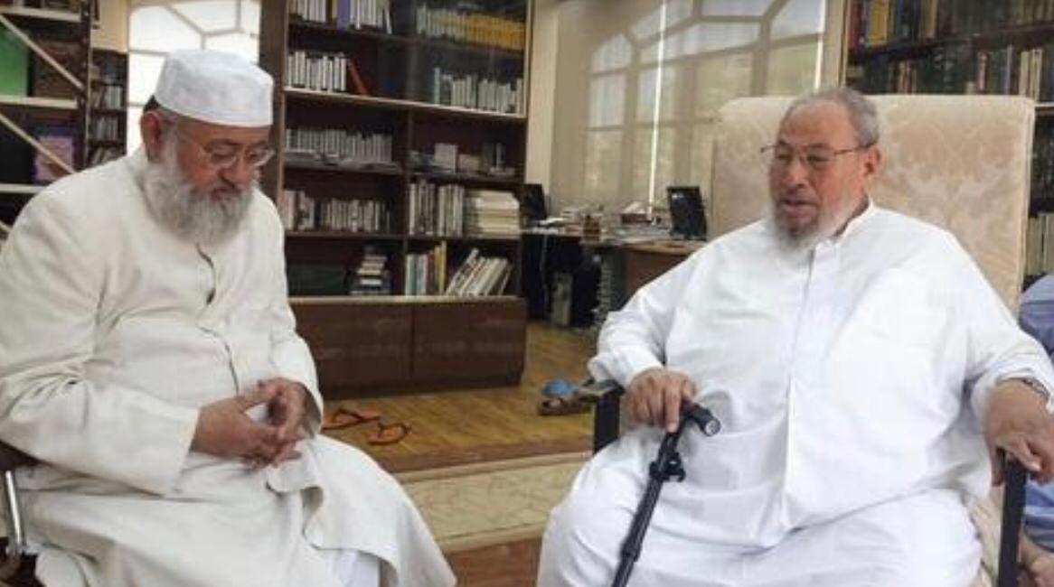 سليمان الندوي بمكتب القرضاوي في الدوحة