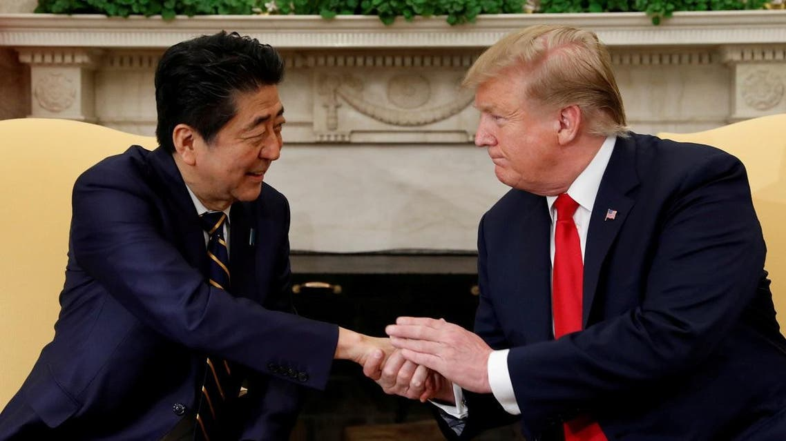 US President Donald Trump meets with Japan's Prime Minister Shinzo Abe at the White House in Washington. (Reuters)