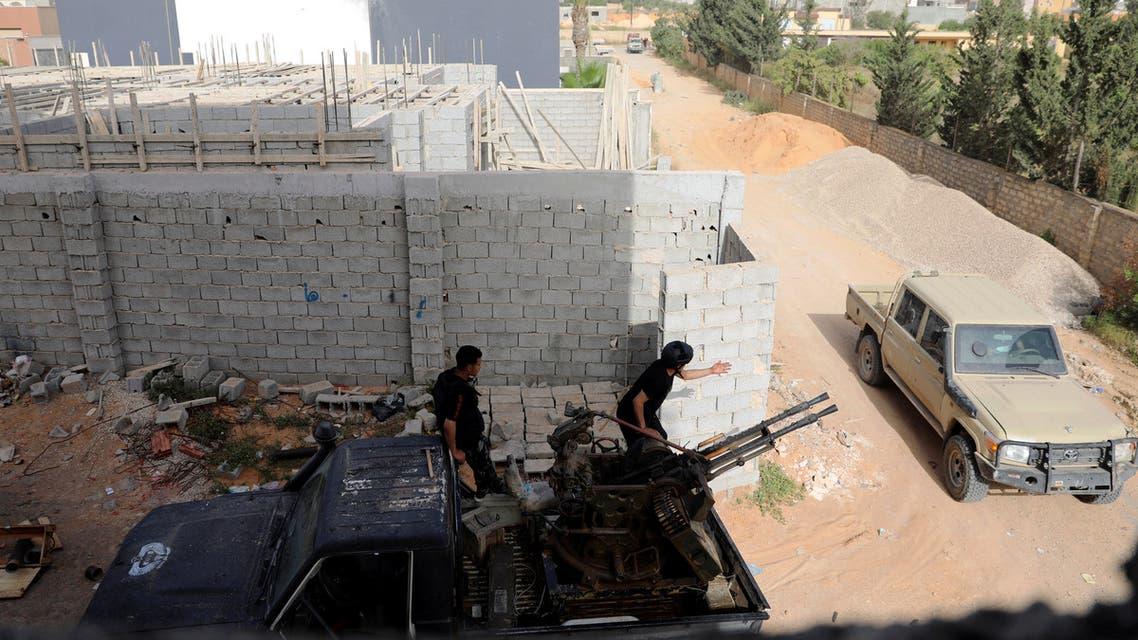 مقاتلون تابعون لحكومة الوفاق في طرابلس