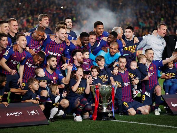 برشلونة يهزم ليفانتي ويتوج بلقب الدوري الإسباني