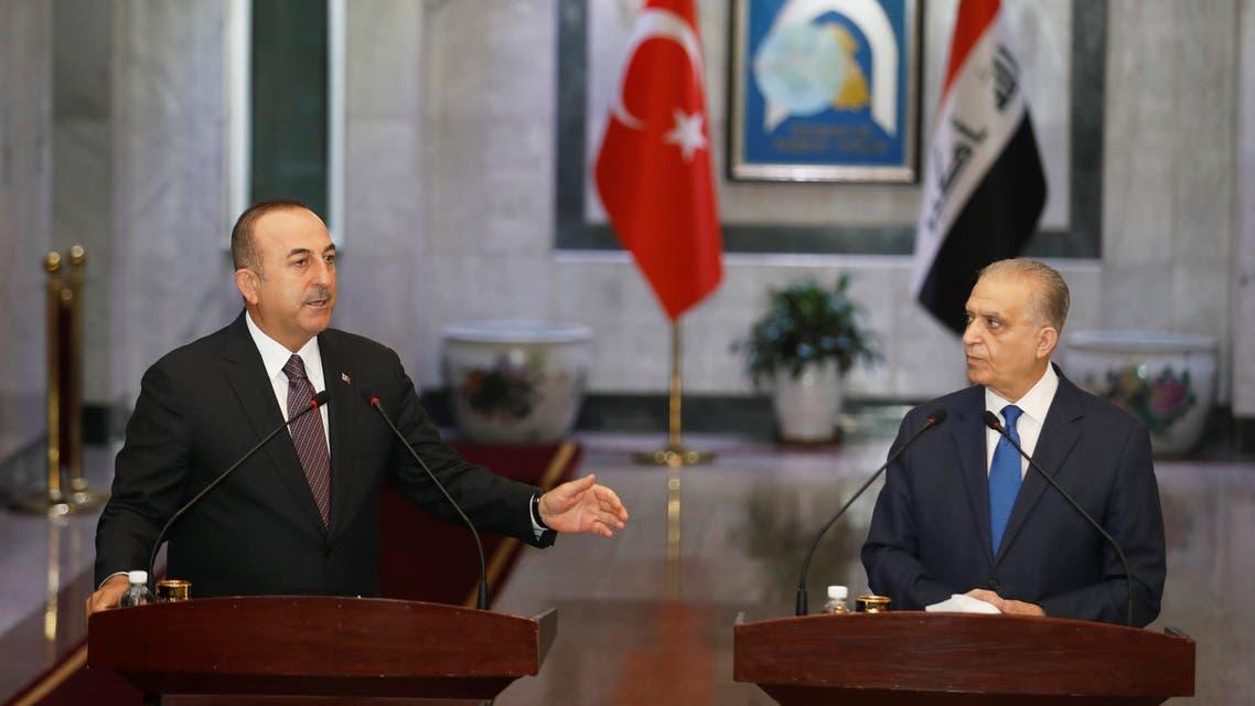 وزراء خارجية تركيا و العراق