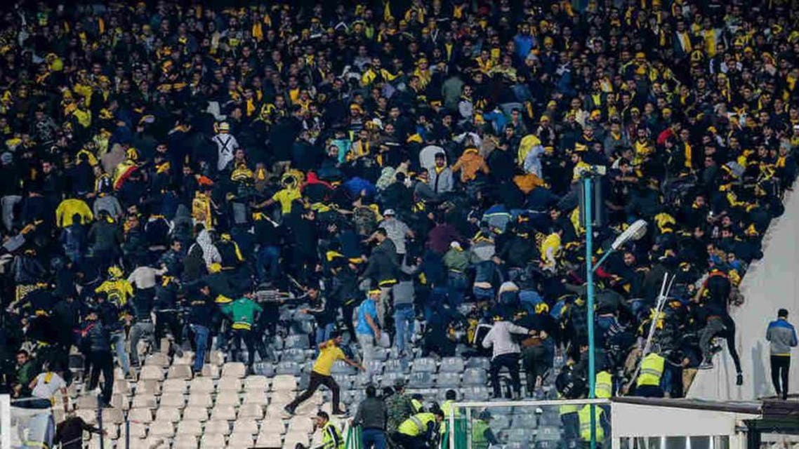 Iran football march become a field of war