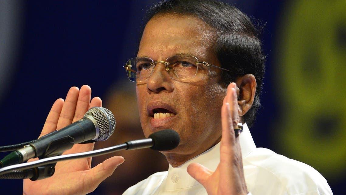 Sri Lankan President Maithripala Sirisena AFP