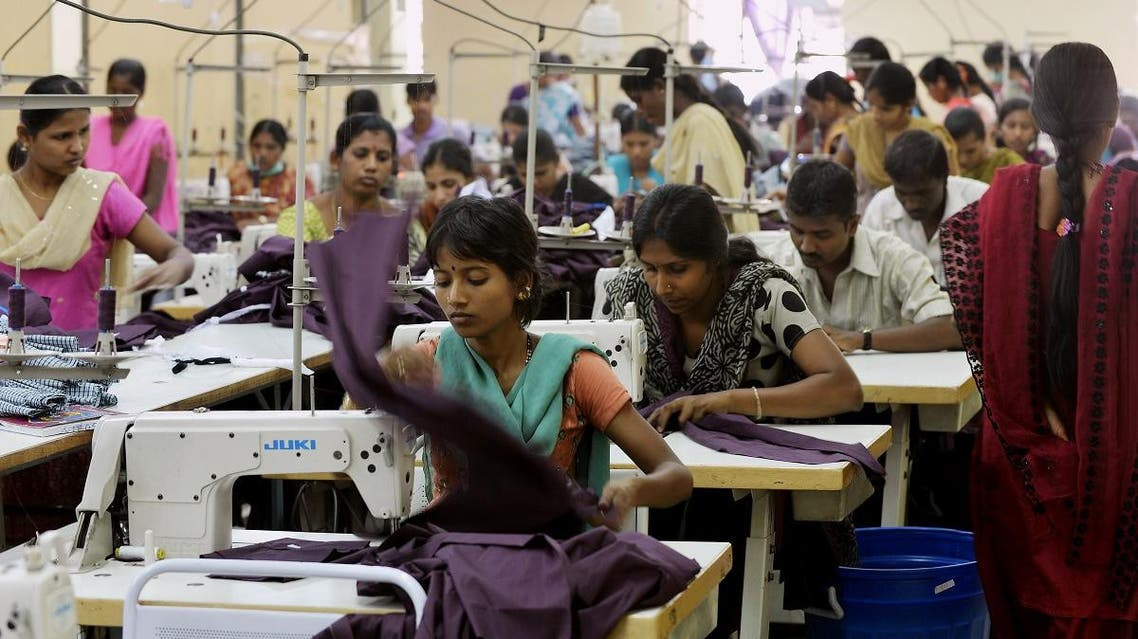 Indian garment femal workers. (AFP)