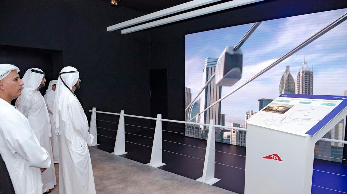 The  series of futuristic urban projects in Dubai will include a 15-kilometer cable car system above Sheikh Zayed Road. (WAM)
