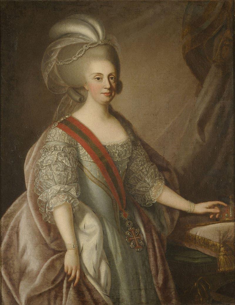 صورة لملكة البرتغال ماريا الأولى