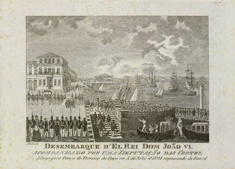 صورة تجسد عودة الملك جوان السادس للبرتغال سنة 1821