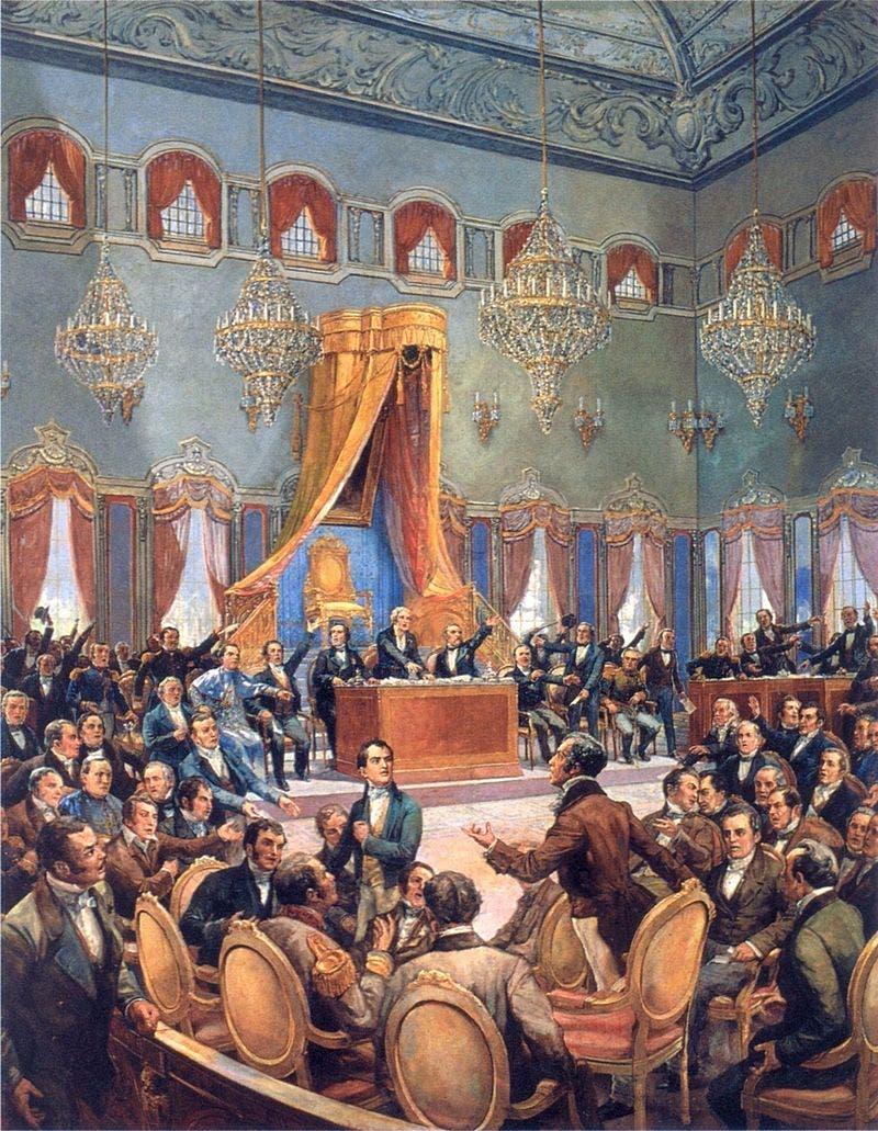 رسم تخيلي لأحد اجتماعات مجلس كورتيس