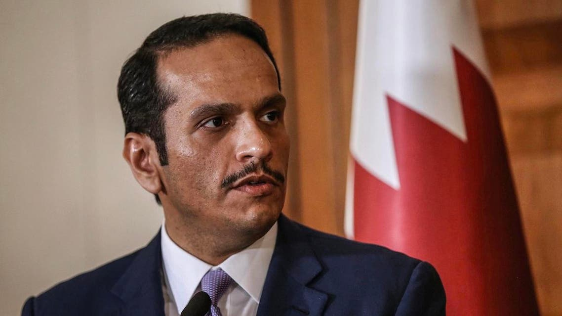 Qatari Foreign Minister Mohammed bin Abdulrahman Al Thani speaking during a press conference. (File photo: AFP)