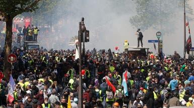 مسيرات عمالية في باريس.. وغاز مسيل وعشرات الموقوفين