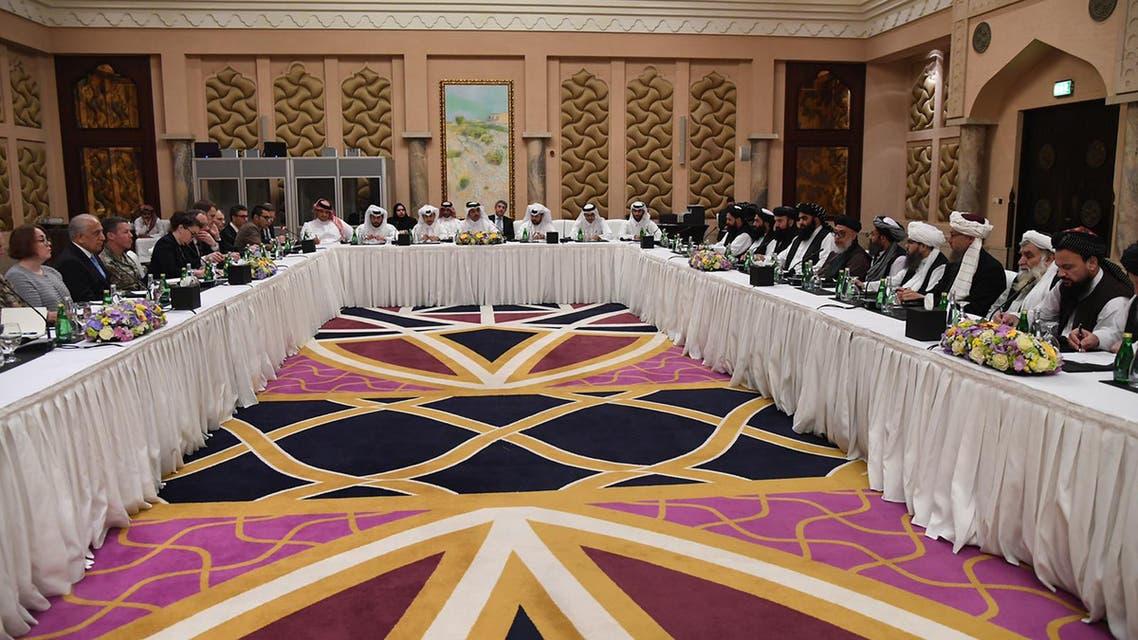 محادثات بين طالبان وواشنطن في الدوحة