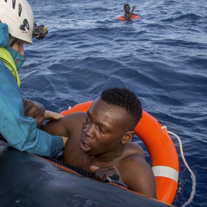 سفينة إمداد إيطالية تنقذ 65 مهاجراً قبالة ليبيا