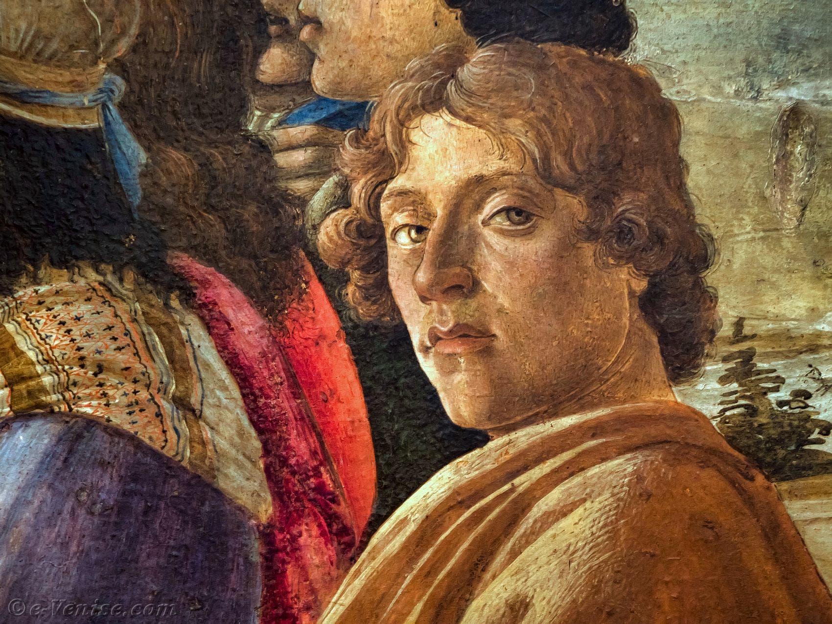 لوحة تجسد الرسام ساندرو بوتيتشيلي
