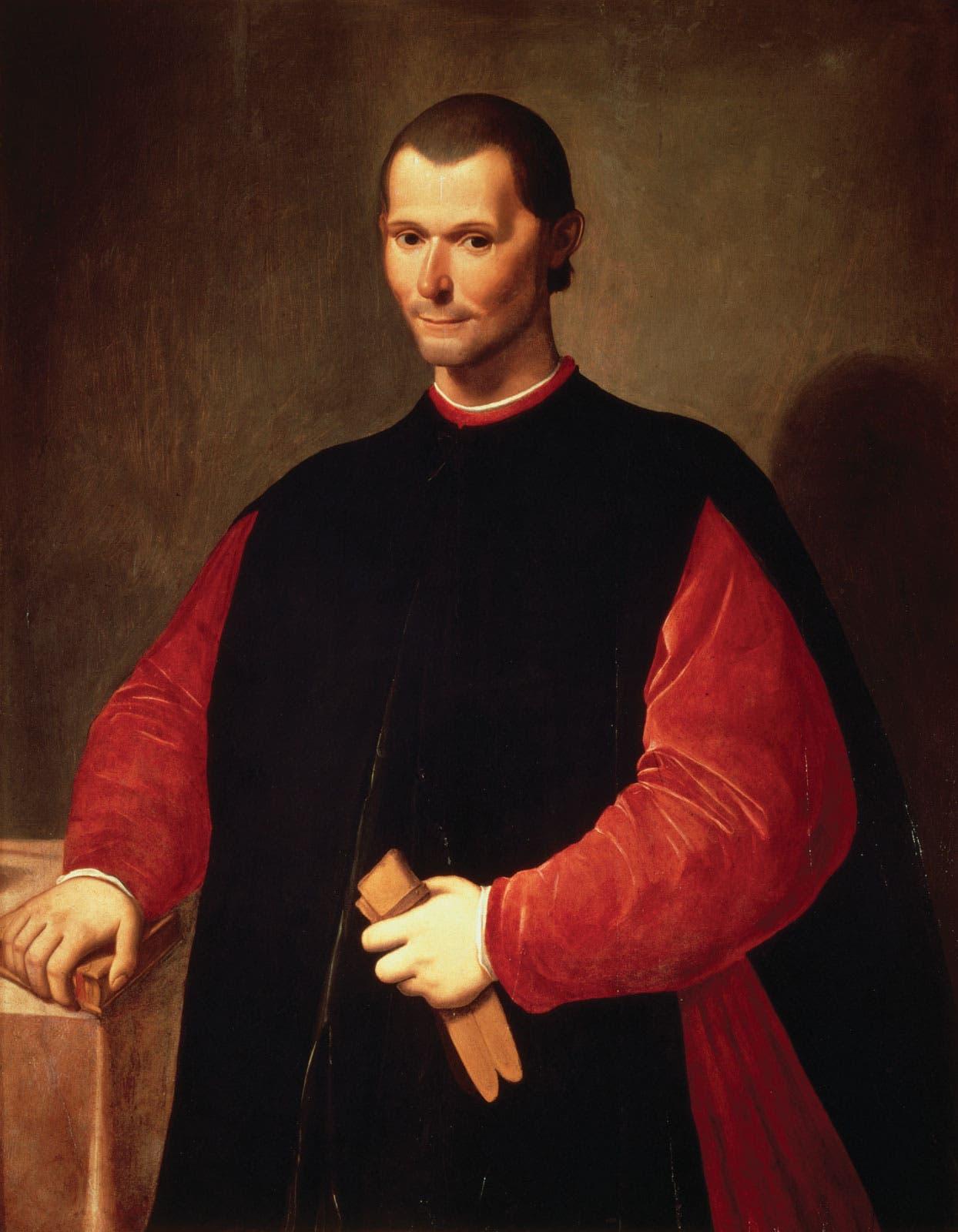 لوحة تجسد المؤلف والسياسي الإيطالي نيكولو مكيافيلي