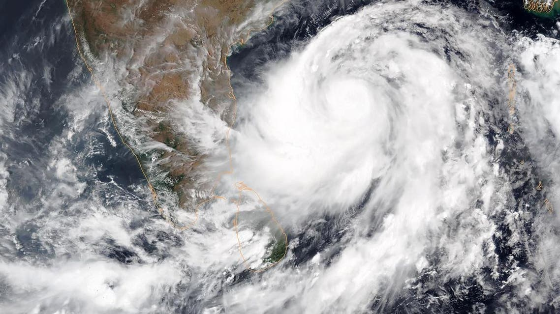 This satellite image shows Tropical Cyclone Fani intensifying in the Bay of Bengal- India. (AFP)
