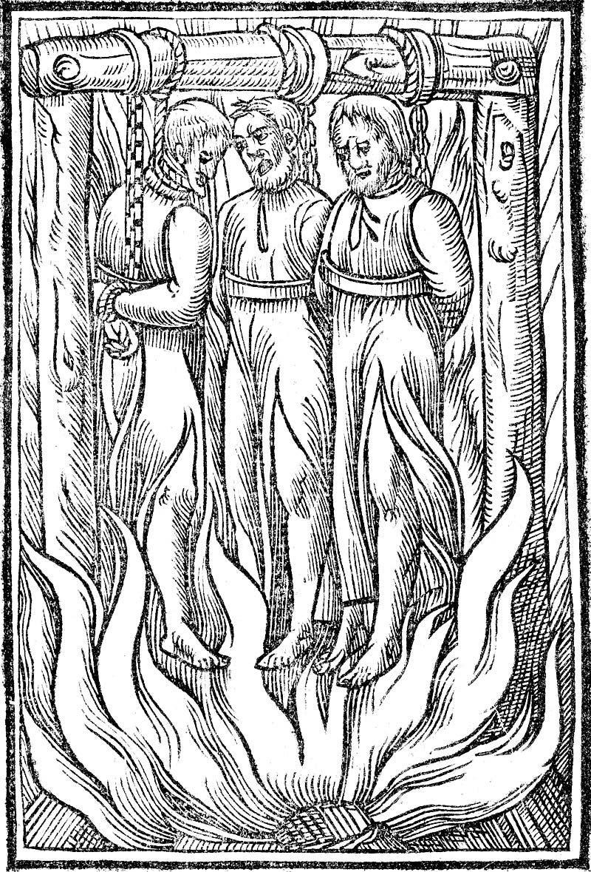 رسم تخيلي لعملية اعدام سافونارولا وعدد من رفاقه