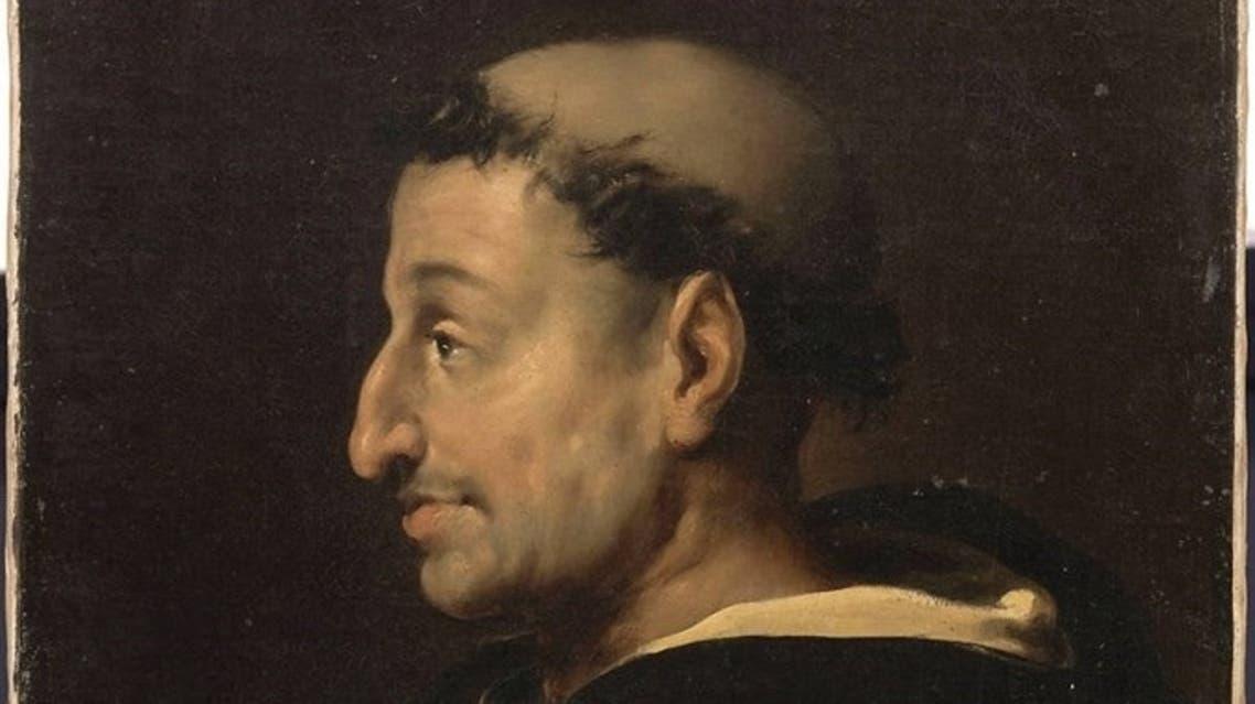 لوحة زيتية تجسد الراهب سافونارولا