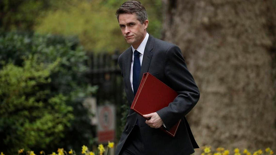 File photo of Britain's Defence Secretary Gavin Williamson arriving for a cabinet meeting in 10 Downing Street, London. (AP)