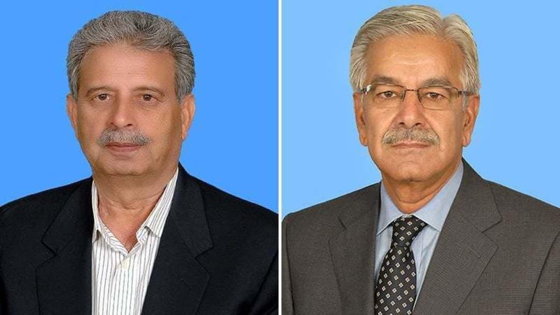 Shehbaz Sharif and Rana Tanveer Hussain