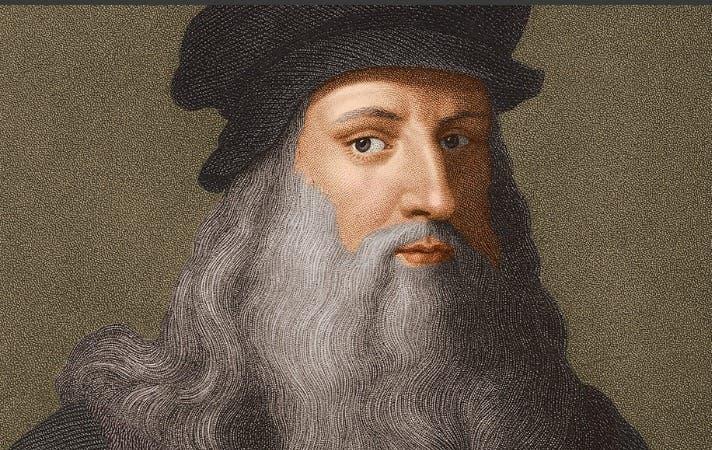 لوحة زيتية تجسد ليوناردو دا فينشي