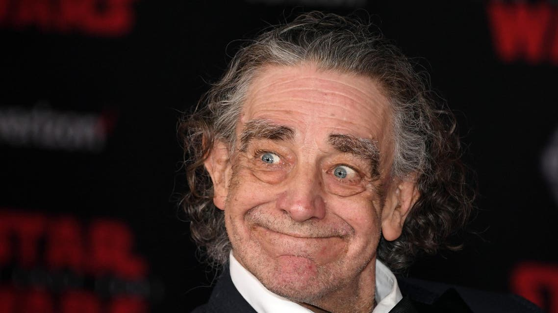"""Actor Peter Mayhew attends the premiere of Disney Pictures and Lucasfilm's """"Star Wars: The Last Jedi"""" at The Shrine Auditorium on December 9, 2017 in Los Angeles, California. (AFP)"""