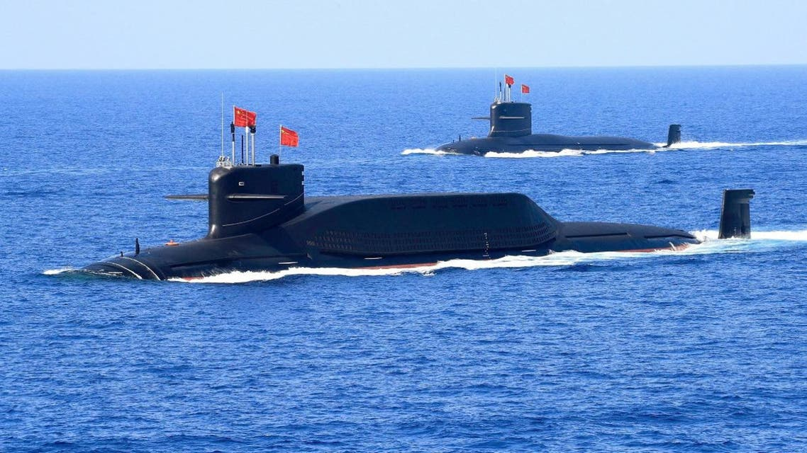 A nuclear-powered Type 094A Jin-class ballistic missile submarine of the Chinese People's Liberation Army (PLA) Navy is seen during a military display in the South China Sea April 12, 2018. (Reuters)