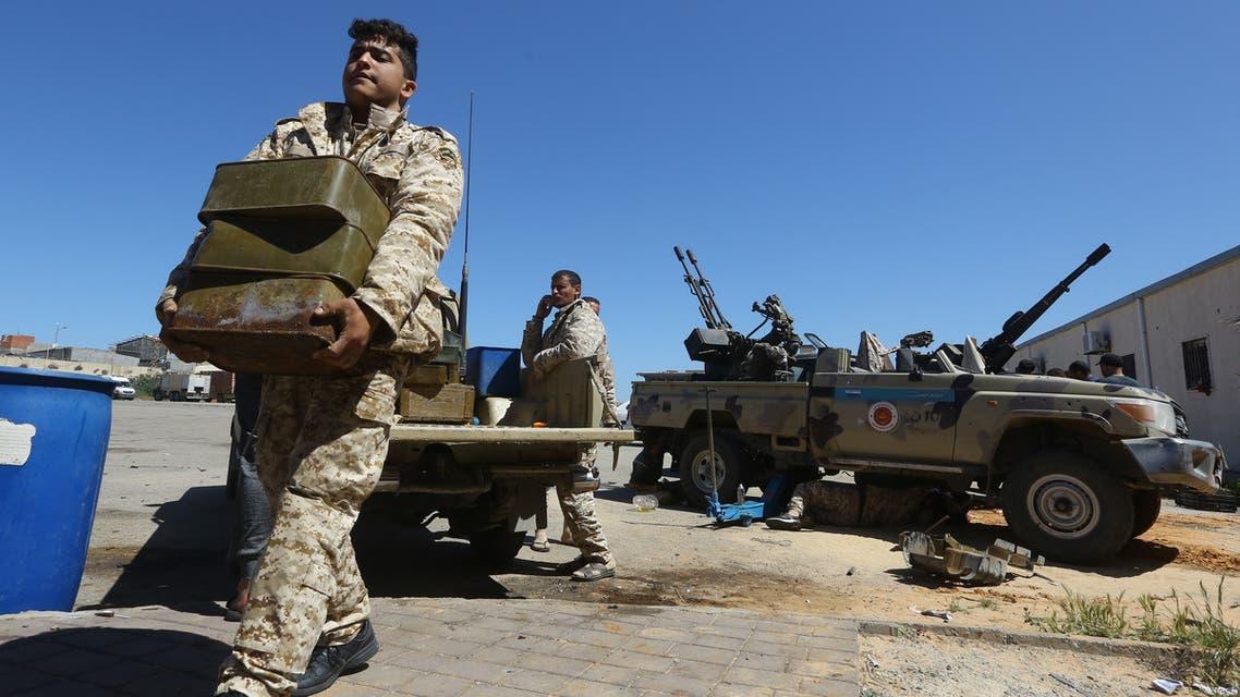 عناصر مسلحة في مصراتة موالية لحكومة الوفاق الليبية