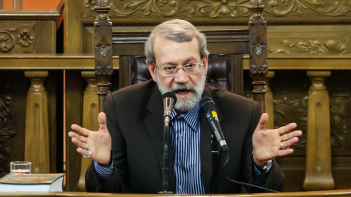 علي لاريجاني رئيس البرلمان الايراني