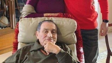 في آخر ظهور.. مبارك يحتفل بعيد ميلاده الـ91 مع عائلته