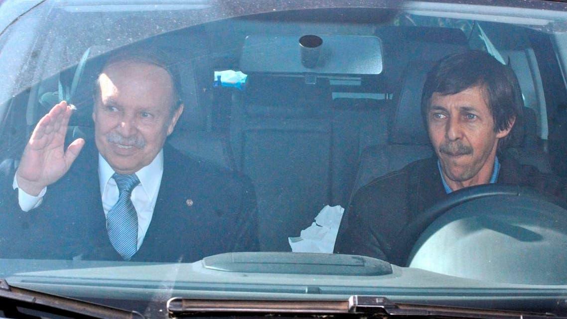 File photo shows Algerian President Abdelaziz Bouteflika, left, and his brother, Said Bouteflika. (AP)