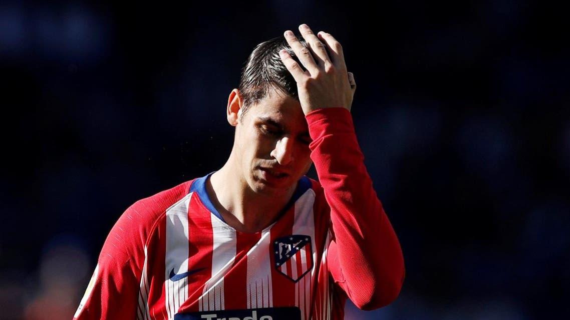 Atletico Madrid's Alvaro Morata during the match. (Reuters)