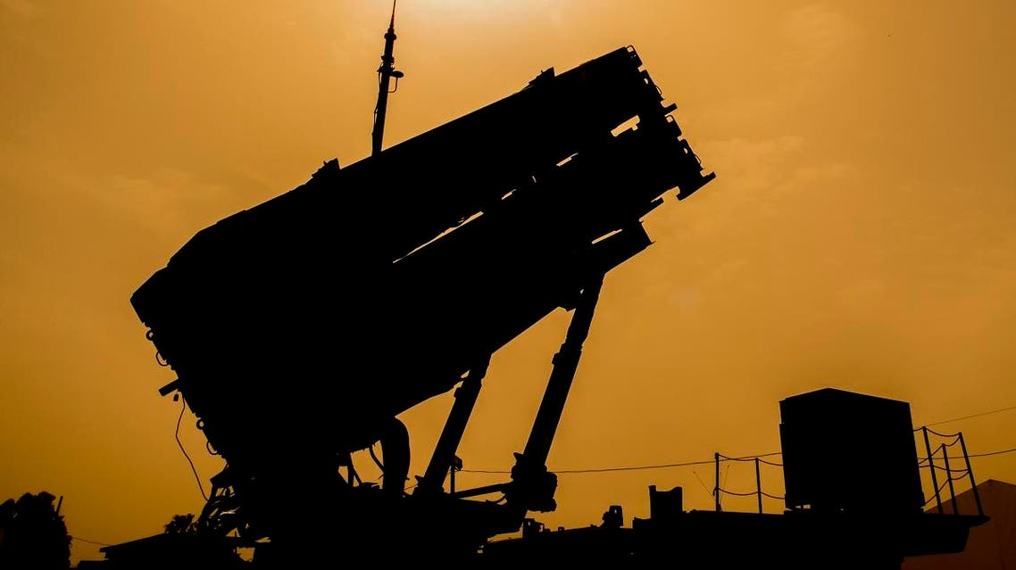 """A US Patriot missile defence system is pictured during the Israeli-US military exercise """"Juniper Cobra"""" at the Hatzor Airforce Base in Israel on March 8, 2018. Exercise Juniper Cobra is a five-day combined military exercise between Israel and the United States. (AFP)"""